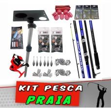 Kit Pesca Praia 89 itens