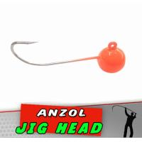 Jig Head Laranja Luminoso