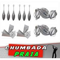 Kit Chumbada Praia 60 peças
