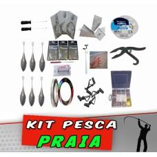 Kit Pesca Praia 90 itens