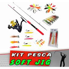Kit Pesca Jig 37 itens