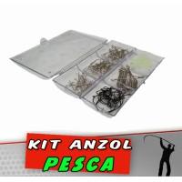 Kit Anzol Pesca 120 peças