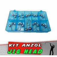 Kit Anzol Jig Head 28 peças