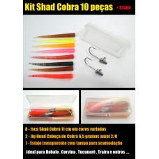 Kit Shad Snake 10 peças