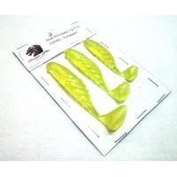 Kit Shad 7-8-9 cm Limão