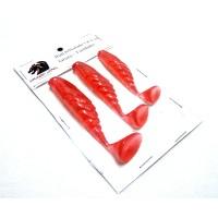 Kit Shad 7-8-9 cm Vermelho