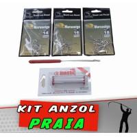 Kit Anzol Praia 32 peças
